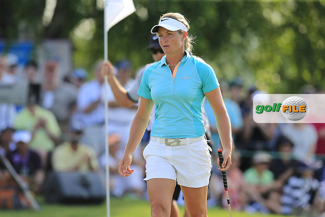 Suzann Pettersen (NOR) on the 18th green during Sunday's Final Round of the 2015 KPMG Women's PGA Championship held at Westchester Country Club, Harrison, New York, USA. 6/14/2015.<br /> Picture &copy; Golffile/Eoin Clarke