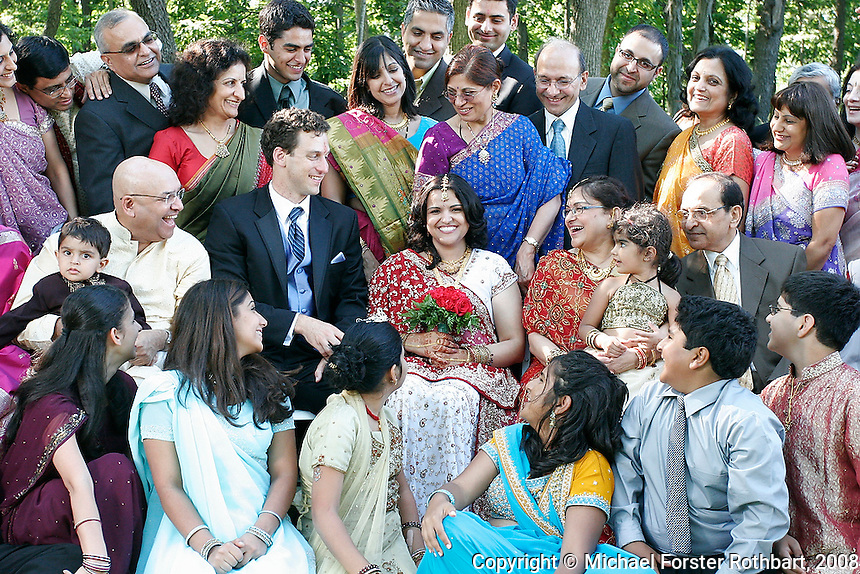 Abha Thakkar and Ben Schumaker got married at Paradise Park in Cottage Grove, Wis., with a crowd of friends and family in attendance.<br /> <br /> &copy; Michael Forster Rothbart<br /> www.mfrphoto.com <br /> 607-267-4893 o 607-432-5984<br /> 5 Draper St, Oneonta, NY 13820<br /> 86 Three Mile Pond Rd, Vassalboro, ME 04989<br /> info@mfrphoto.com<br /> Photo by: Michael Forster Rothbart<br /> Date: 7/2008    File#:  Canon 20D digital camera frame 6682