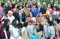 Abha Thakkar and Ben Schumaker got married at Paradise Park in Cottage Grove, Wis., with a crowd of friends and family in attendance.<br /> <br /> © Michael Forster Rothbart<br /> www.mfrphoto.com <br /> 607-267-4893 o 607-432-5984<br /> 5 Draper St, Oneonta, NY 13820<br /> 86 Three Mile Pond Rd, Vassalboro, ME 04989<br /> info@mfrphoto.com<br /> Photo by: Michael Forster Rothbart<br /> Date: 7/2008    File#:  Canon 20D digital camera frame 6682