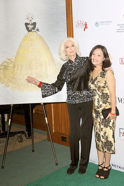 WWW.ACEPIXS.COM<br /> September 28, 2015 New York City<br /> <br /> Carmen Dell'Orefice and Guo Pei attending the Fashion 4 Development's 5th annual Official First Ladies luncheon at The Pierre Hotel on September 28, 2015 in New York City.<br /> <br /> Credit: Kristin Callahan/ACE Pictures<br /> <br /> Tel: (646) 769 0430<br /> e-mail: info@acepixs.com<br /> web: http://www.acepixs.com