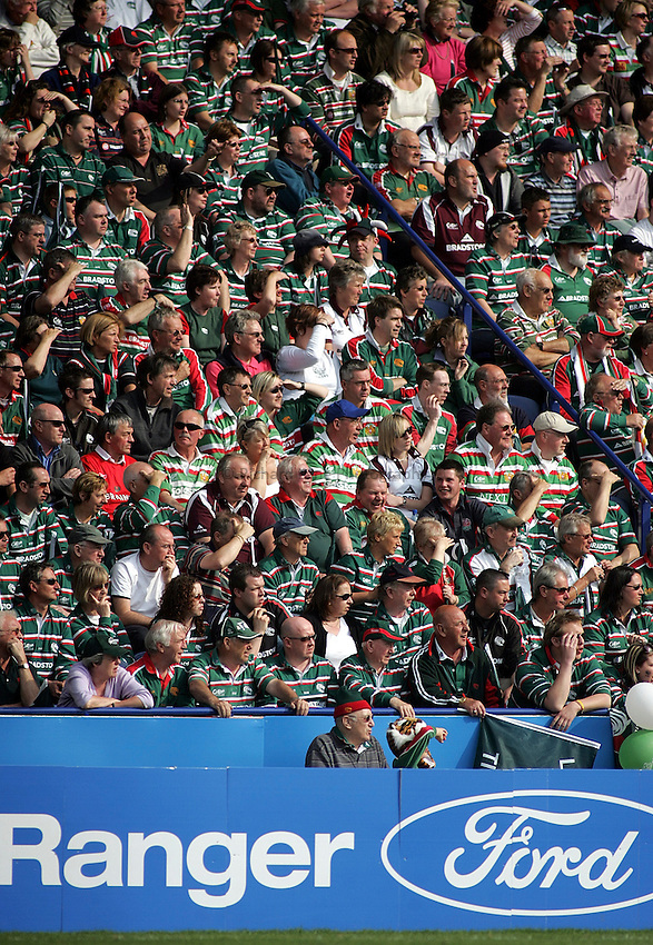 Photo: Paul Thomas..Leicester Tigers v Llanelli Scarlets. Heineken Cup, Semi Final. 21/04/2007...Leicester Tigers fans.