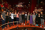 Denee Benton and Josh Groban with fellow cast members making their Broadway debut during the Broadway Opening Night Actors' Equity Gypsy Robe Ceremony honoring Katrina Yaukey  for  'Natasha, Pierre & The Great Comet Of 1812' at The Imperial Theatre on November 14, 2016 in New York City.