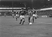 26/08/1980 Everton v Blackpool League Cup 2nd Round 1st Leg .Colin Morris races past Steve McMahon....© Phill Heywood.