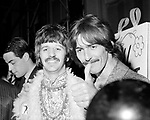 Beatles 1967 Ringo Starr and George Harrison at Our World global TV show where they performed All You Need Is Love from Abbey Road