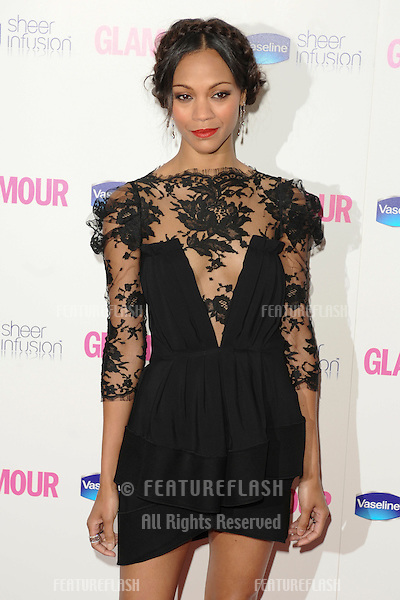 Zoe Saldana arriving for the 2010 Glamour Awards, Berkeley Square, London. 08/06/2010  Picture by: Steve Vas / Featureflash