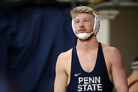 PHILADELPHIA, PA - NOVEMBER 18: Bo Nickal of the Penn State Nittany Lions warms-up before wrestling a match at the Keystone Classic on November 18, 2018 at The Palestra on the campus of the University of Pennsylvania in Philadelphia, Pennsylvania. (Photo by Hunter Martin/Getty Images) *** Local Caption *** Bo Nickal