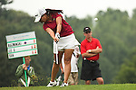 Jenny Suh droves the ball on the 17th hole at Alliance Bank Golf Classic in Syrcause, NY.