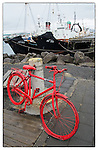 Red bike at Reykjavik harbour