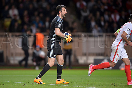 May 3rd 2017, Stade Louis II, Monaco,France; UEFA Champions league football semi-final, AS Monaco versus Juventus;  Gianluigi Buffon (juv)