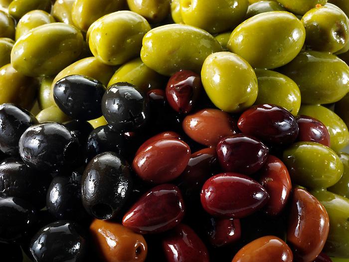 Mixed Kalamata, black  & green olives
