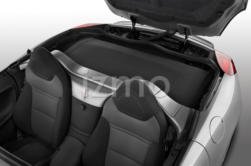 High angle rear seats and trunk from a 2008 Pontiac Solstice