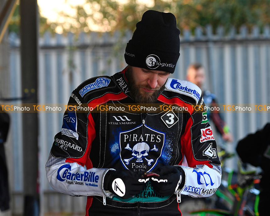 Nicoloai Klindt of Poole Pirates during Poole Pirates vs King's Lynn Stars, SGB Premiership Shield Speedway at The Stadium on 11th April 2019