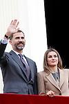 Prince Felipe of Spain and Princess Letizia of Spain visit Caspe village on November 7, 2012 in Alcaniz, Teruel, Spain.(ALTERPHOTOS/Harry S. Stamper)
