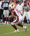 Larry Fitzgerald, of the Arizona Cardinals, in action against the Dallas Cowboys on August 13, 2005...Arizona wins 13-11..Jason Wise / SportPics