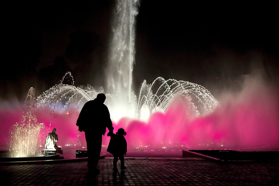 I photographed this father and daughter walking towards a lit-up fountain at Reserva Park in Lima, Peru. There was something so dreamy and beautiful about this moment and it really brought to mind the sense of magic and mystery childhood can hold. I wish all the world's girls could experience this sense of beauty and magic, not to mention the comforting hand of a committed father leading one through it.