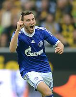 Fussball 1. Bundesliga :  Saison   2012/2013   8. Spieltag  20.10.2012 Borussia Dortmund - FC Schalke 04 Jubel nach dem Tor zum 0:2 Marco Hoeger (FC Schalke 04)