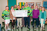 Presentation To Ard Curam : : Membbers of the Finuge Freewheelers cycling club making a presentation of a cheque for €1330.00 to the Ard Curam Day Care Centre, Listowel on Wednesday 10th June. Front : Keith Mccarthy, Brenda Dowling, Tom Pierse, Johnny Joy, Michael Moriarity & Catherine Kirby. Back : Brendan O'Regan, John Cronin, Mark Bright & Paudie Stack.