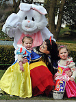 REPRO FREE: EASTER SUNDAY EGG HINT TRALEE:.Snow White and the Easter Bunny is pictured with Isabeland Ruby Walmsley from Castleisland at the Cadbury Easter Egg Hunt in the Ballygarry House Hotel & Spa in Tralee on Easter Sunday..Picture by Don MacMonagle