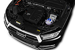 Car Stock 2017 Audi Q5 Sport 5 Door SUV Engine  high angle detail view