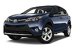 Stock pictures of low aggressive front three quarter view of a 2015 Toyota RAVA4 Lounge 5 Door SUV