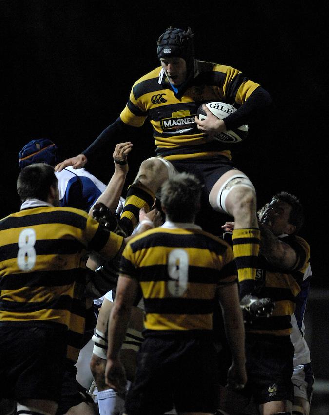Photo: Richard Lane..London Wasps A v Bath Rugby A. Guinness A League. 19/03/2007. .Wasps' Richard Birkett wins a lineout.