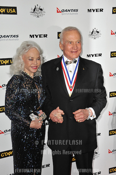 Edwin Buzz Aldrin & wife Lois Aldrin at the 2011 G'Day USA Black Tie Gala at the Hollywood Palladium..January 22, 2011  Los Angeles, CA.Picture: Paul Smith / Featureflash