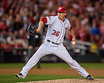 13 October 2016: Washington Nationals pitcher Sammy Solis on the mound during Game 5 of the NLDS against the Los Angeles Dodgers at Nationals Park in Washington, DC. The Dodgers edged out the Nationals 4-3, to take Game 5 of the Series, 3 games to 2, and move on to the National League Championship Series against the Chicago Cubs. Mandatory Credit: Ed Wolfstein Photo *** RAW (NEF) Image File Available ***