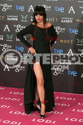 Yolanda Ramos attend the 2015 Goya Awards at Auditorium Hotel, Madrid,  Spain. February 07, 2015.(ALTERPHOTOS/)Carlos Dafonte) /NORTEphoto.com