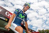 Juan Jose Cobo before the stage of La Vuelta 2012 between Lleida-Lerida and Collado de la Gallina (Andorra).August 25,2012. (ALTERPHOTOS/Paola Otero) /NortePhoto.com<br /> <br /> **CREDITO*OBLIGATORIO** <br /> *No*Venta*A*Terceros*<br /> *No*Sale*So*third*<br /> *** No*Se*Permite*Hacer*Archivo**<br /> *No*Sale*So*third*