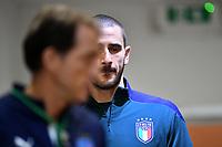 Leonardo Bonucci of Italy attends the press conference <br /> Roma 11-10-2019 Stadio Olimpico <br /> European Qualifiers Qualifying round <br /> Italy - Greece day -1 training<br /> Photo Andrea Staccioli/Insidefoto