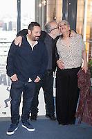 Pepon Nieto, film director Alex de la Iglesia and Terele Pavez pose during `Mi gran noche´ film presentation in Madrid, Spain. February 20, 2015. (ALTERPHOTOS/Victor Blanco) /NORTEphoto.com