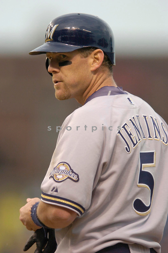 Geoff Jenkins, of the Milwaukee Brewers, during their game against the Chicago Cubs. in Chicago on April 28, 2006..Cubs win 6-2..Chris Bernacchi / SportPics