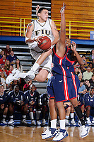 5 January 2008: Florida International forward Alex Galindo (2) shoots in the first half of the FIU 69-58 victory over FAU at the Pharmed Arena in Miami, Florida.