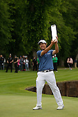 Byeong HUN-AN (KOR) on the 18th winner of the 2015 BMW PGA Championship over the West Course at Wentworth, Virgina Water, London. 24/05/2015<br /> Picture Fran Caffrey, www.golffile.ie