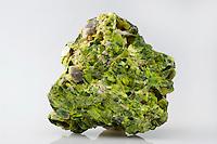 Torbernite (in alteration to Metatorbernite). A radioactive, hydrous copper uranium phosphate mineral similar in composition to autunite. El Sapo Mine, Moctezuma, Sonora, Mexico.