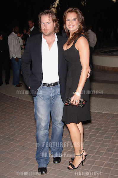 "Actress BROOKE SHIELDS & husband CHRIS HENCHY at the season four premiere screening for TV series ""Nip/Tuck"" at Paramount Studios, Hollywood...August 25, 2006  Los Angeles, CA.© 2006 Paul Smith / Featureflash"