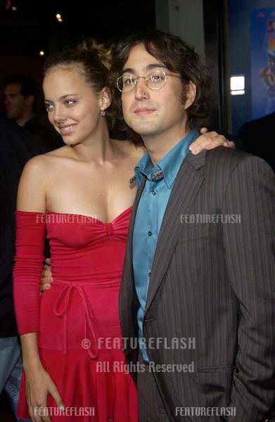 Actress BIJOU PHILLIPS & boyfriend singer SEAN LENNON at the Los Angeles premiere of Wonderland..Sept 24, 2003