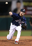 Reno Aces' Zeke Spruill pitches against the Omaha Storm Chasers, in Reno, Nev., on Sunday, Aug. 24, 2014.<br /> Photo by Cathleen Allison