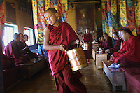 Monks at Diskit Monastery, Ladakh, India 2006