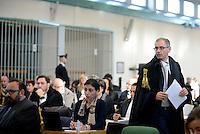 Roma, 24Novembre 2015<br /> Alessandro Diddi, , avvocato difensore di Salvatore Buzzi.<br /> Aula bunker di Rebibbia<br /> Quarta udienza del processo Mafia Capitale,