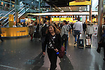 Beth departing for home from Schiphol Airport, Amsterdam, Netherlands,