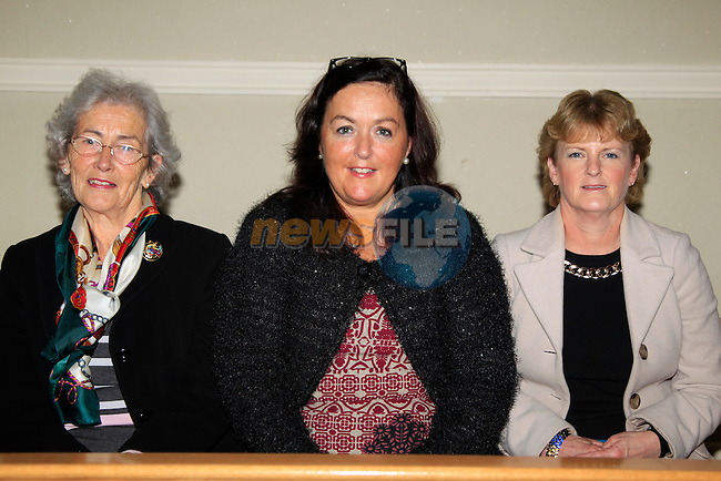 Irene McHugh, Fadela Gorman and Ann Bohan at the music event in Dunleer Church<br /> Picture: www.newsfile.ie