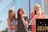 Jennifer Aniston, Kathryn Hahn and Malin Akerman..22/02/2012 Hollywood..Jennifer Aniston Honored with a Star on the Hollywood Walk of Fame on February 22, 2012 ..Stella sulla Hollywood walk of fame per Jennyfer Aniston..Foto Insidefoto / Andrew Evans / PrPrhotos