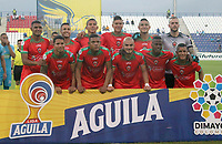 MONTERÍA - COLOMBIA ,31-08-2019: Formación de Patriotas Boyacá ante Jaguares de Córdoba durante partido por la fecha 9 de la Liga Águila II 2019 jugado en el estadio Municipal Jaraguay de Montería . / Team of Patriotas Boyaca agaisnt of Jaguares of Cordoba fights   during the match for the date 9 of the Liga Aguila II 2019 played at Municipal Jaraguay Satdium in Monteria City . Photo: VizzorImage / Contribuidor.