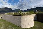troupeau de moutons sur la place forte de Mont-Dauphin construite par Vauban &agrave; partir de 1693, inscrite en 2008 au Patrimoine mondial de l'UNESCO.<br /> Mont-Dauphin castle built by Vauban in 1693, on the Unesco list since 2008