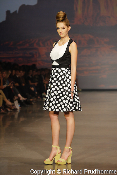 Annie 50 Spring-Summer 2014 collection fitted and tailored clothes, made from circular skirts, A-lines and angular cuts.