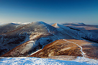 Scald Law, South Black Hill and East Kip from Carnethy Hill, The Pentland Hills, The Pentland Hills Regional Park, Lothian