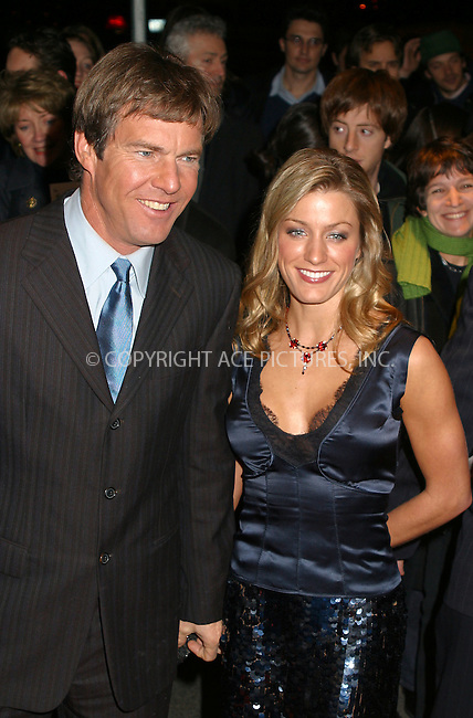"Dennis Quaid and girlfriend Anna Poche attending the New York premiere of ""Far From Heaven"" in New York. November 5, 2002. Please byline: Alecsey Boldeskul/NY Photo Press.   ..*PAY-PER-USE*      ....NY Photo Press:  ..phone (646) 267-6913;   ..e-mail: info@nyphotopress.com"