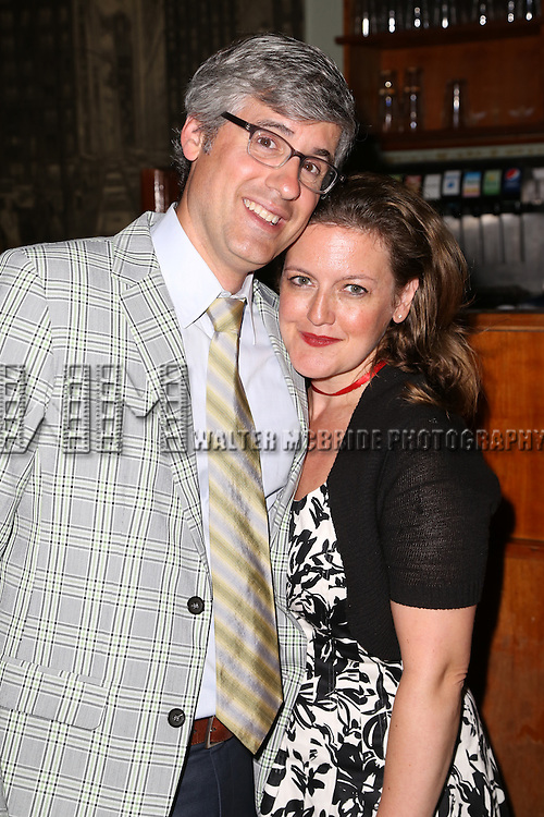 Mo Rocca and Jennifer Simard attends the After Party for the One Night Only 10th Anniversary Concert of 'The 25th Annual Putnam County Spelling Bee' at Town Hall on July 6, 2015 in New York City.