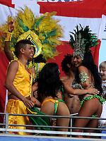 HAMBURGO, ALEMANHA, 26 DE MAIO 2012 - BRASIL X DINAMARCA AMISTOSO INTERNACIONAL -  Mulatas durante jogo da seleção brasileira durante amistoso contra a seleção da Dinamarca, realizado no Imtech Arena, na cidade de Hamburgo, neste sábado, 26. Hulk fez o gol. O jogo é o primeiro de uma série de amistosos que acontecerão antes das Olimpíadas de Londres. (FOTO: MICHAEL SHWARTZ / BRAZIL PHOTO PRESS).